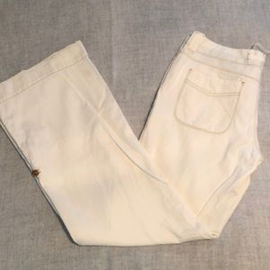 Gap wide legged flared white jeans